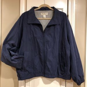 Norm Thompson Blue Windbreaker Jacket